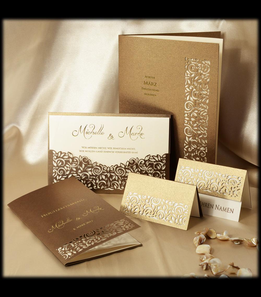 Hochzeitskarten Set Pamas