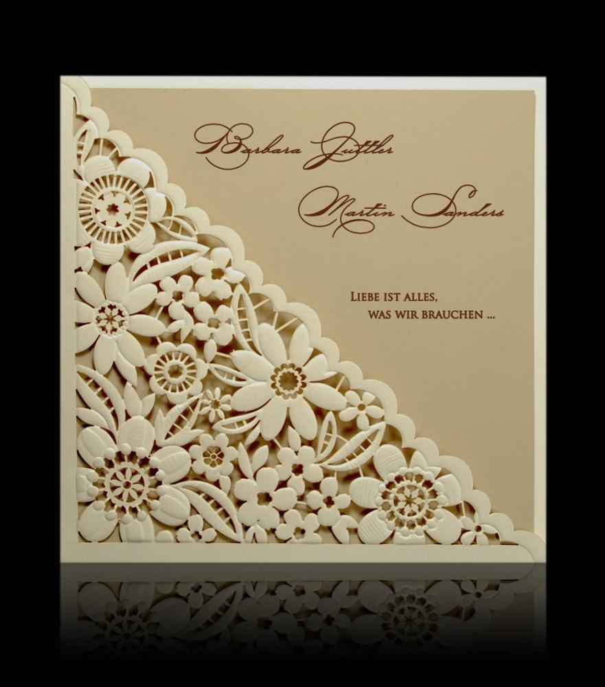 Hochzeitskarten C 0703 Exklusive Hochzeitskarten Drucken Lassen